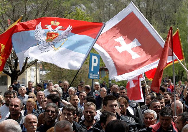 Protestas contra la adhesión de Montenegro a la OTAN (archivo)