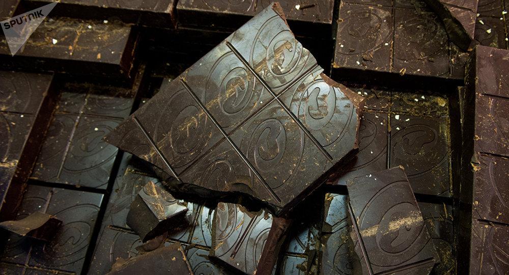 Producción de chocolate en una de las fábricas rusas