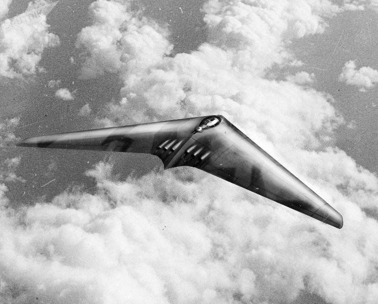 El posible aspecto del bombardero estratégico alemán H.XVIII (dibujo)