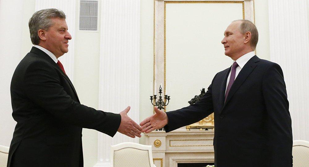 Vladímir Putin, presidente de Rusia, y su homólogo macedonio, Gjorge Ivanov