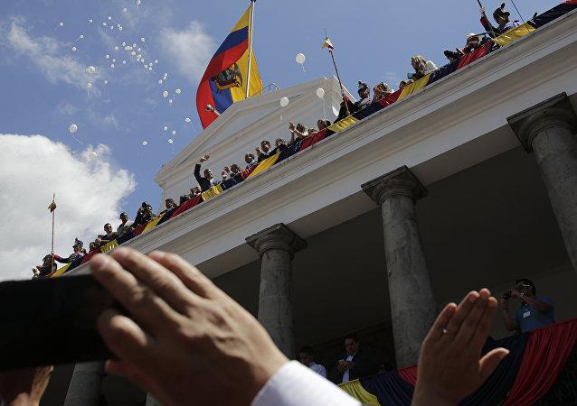La ceremonia de Cambio de Mando presidencial de Rafael Correa en Ecuador
