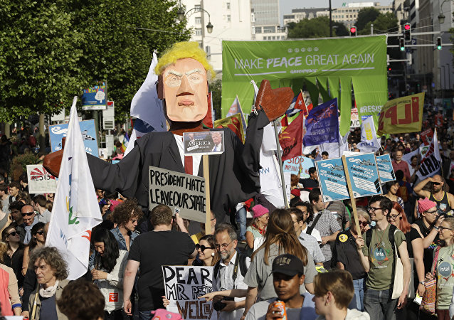 Protestas contra Donald Trump (archivo)