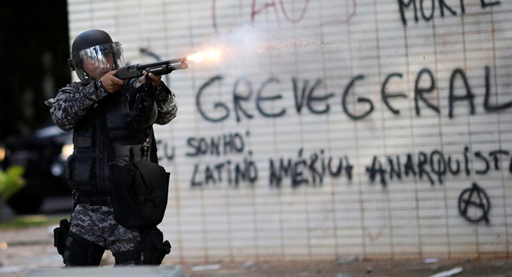 Policía brasileña
