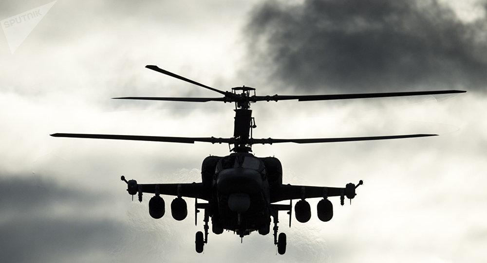 Un helicóptero ruso Ka-52 (archivo)
