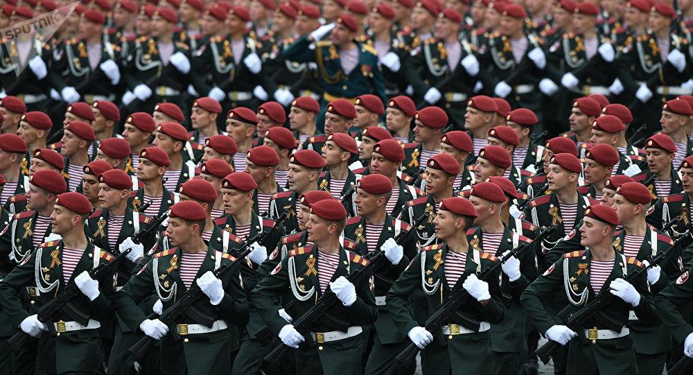 Soldados de la Guardia Nacional de Rusia