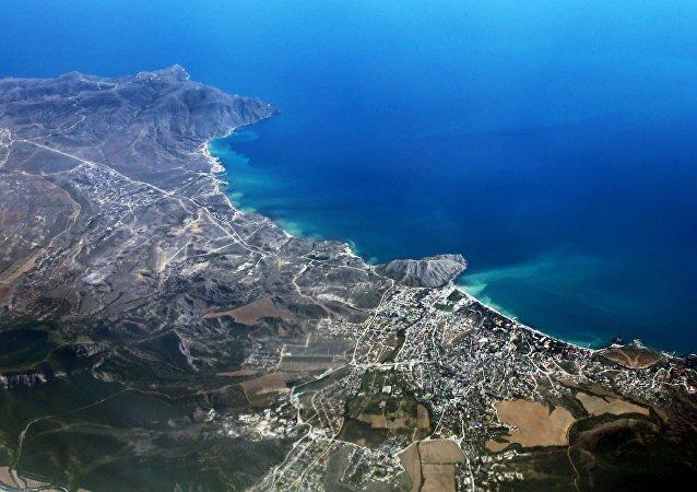 La costa de Crimea, Rusia