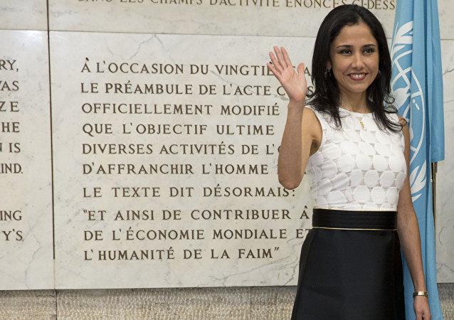 Nadine Heredia, esposa del expresidente peruano Ollanta Humala (2011-2016) (archivo)
