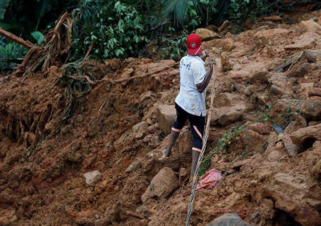 Consecuencias del diluvio en Sri Lanka