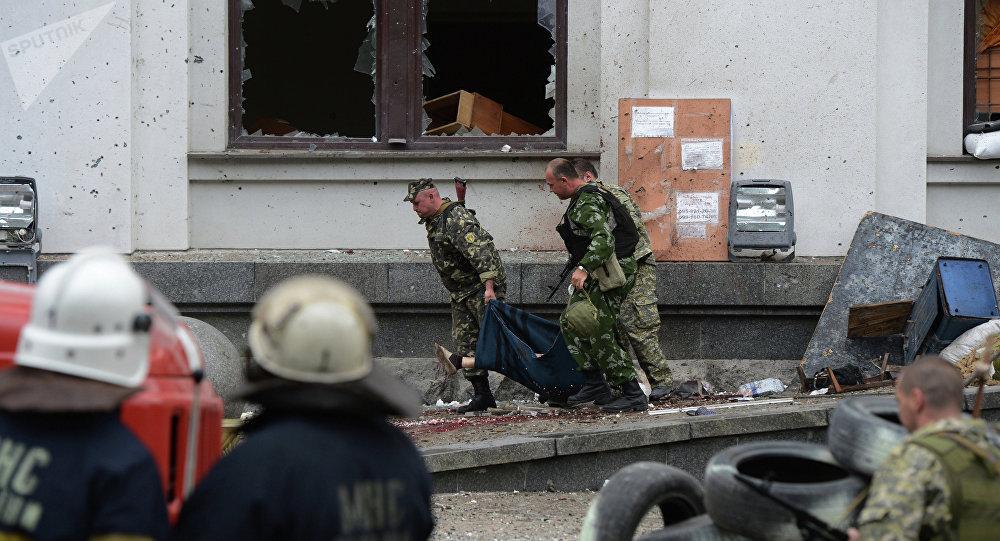 Lugansk bajo el fuego de la aviación ucraniana