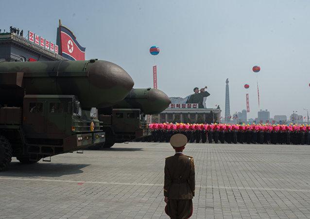 Desfile militar en Corea del Norte (archivo)