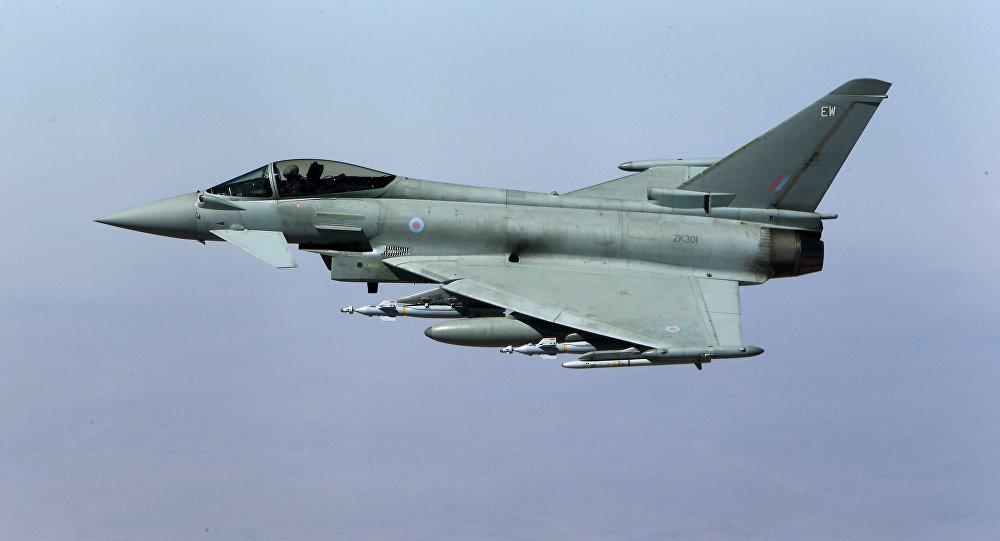 Caza británico Typhoon (archivo)