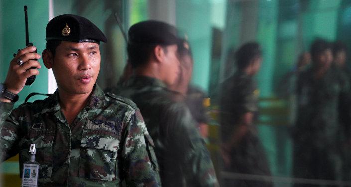 Un soldado tailandés