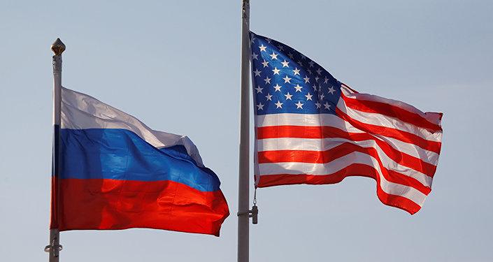 Banderas de Rusia y EEUU (archivo)