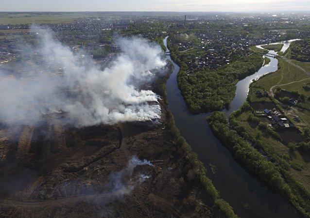Incendios en Krasnoyarsk