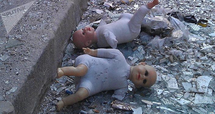 Consecuencias de la guerra en la ciudad de Homs, Siria, 22 de abril de 2012