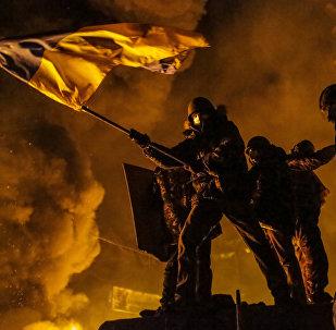 Los disturbios del Maidán en la capital de Ucrania en 2014