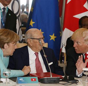 Donald Trump y Ángela Merkel