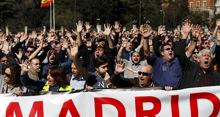 Protestas contra Uber y Cabify en Madrid (archivo)