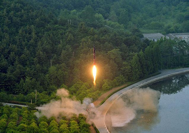 Ensayo de un misil balístico norcoreano