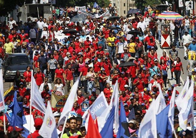 Partidarios de Nicolás Maduro