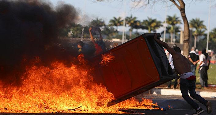 Protesta contra Michel Temer en Brasil
