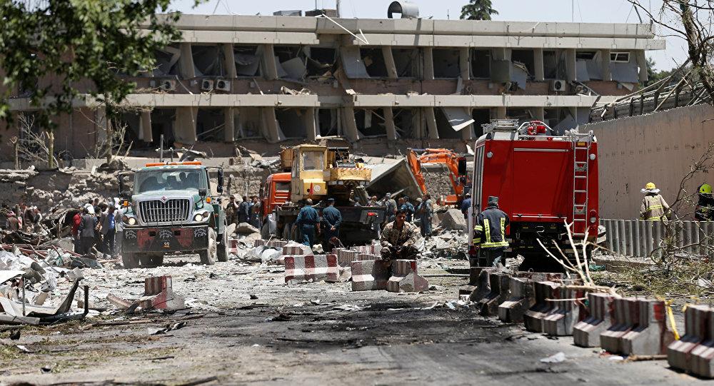 Lugar del atentado en Kabul