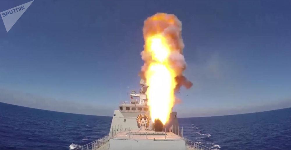 Golpe desde el mar: buques de la Armada de Rusia vs. terroristas en Palmira