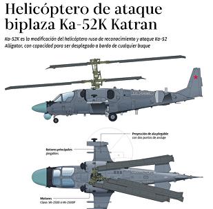 Helicóptero de ataque biplaza KA-52K