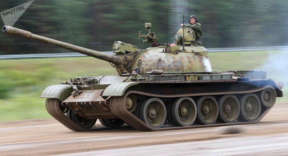 El tanque soviético T-55 (archivo)