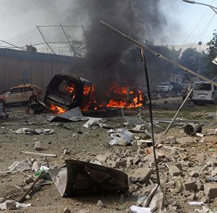 Las consecuencias de un atentado en Kabul, Afganistán (archivo)