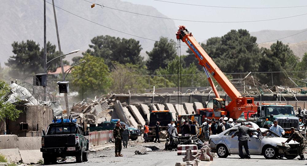 Zona del atentado de Kabul, Afganistán