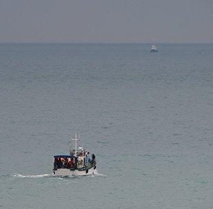 Operación de rescate en el lugar del siniestro del avión ruso Tu-154 en Sochi