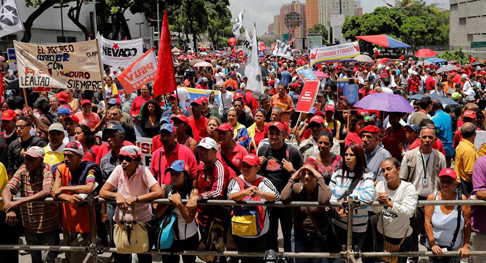 Partidarios del Gobierno del presidente Nicolás Maduro (archivo)
