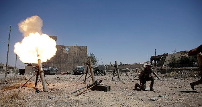 Militares iraquíes durante los combates contra Daesh en Mosul, Irak