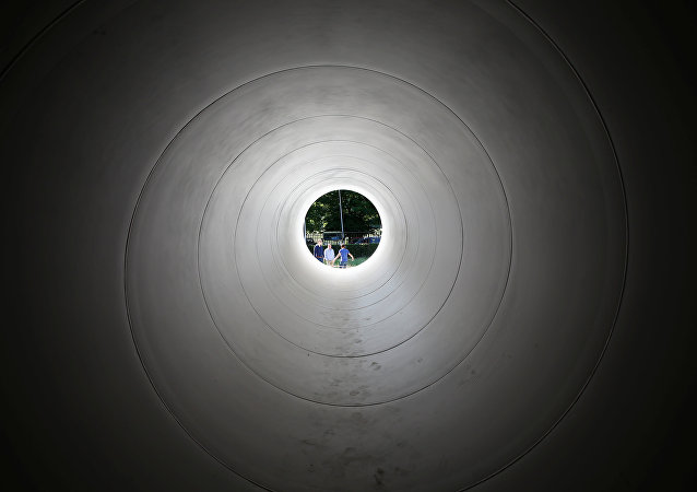 Un tubo de Hyperloop (imagen referencial)