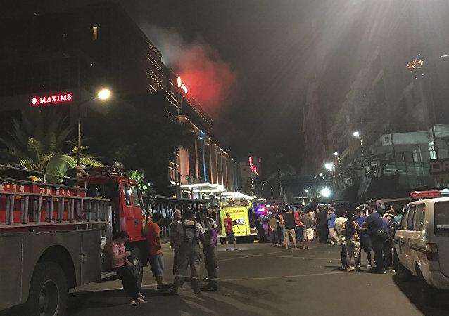 Lugar del atentado en Manila