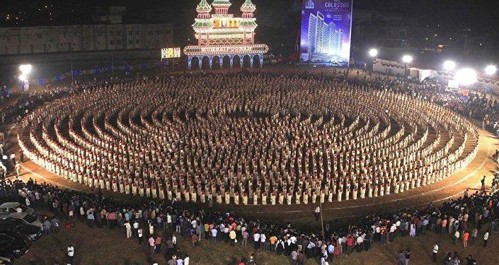 Un baile de kaikottikali (imagen referencial)
