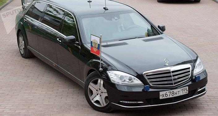 El vehículo del presidente Putin