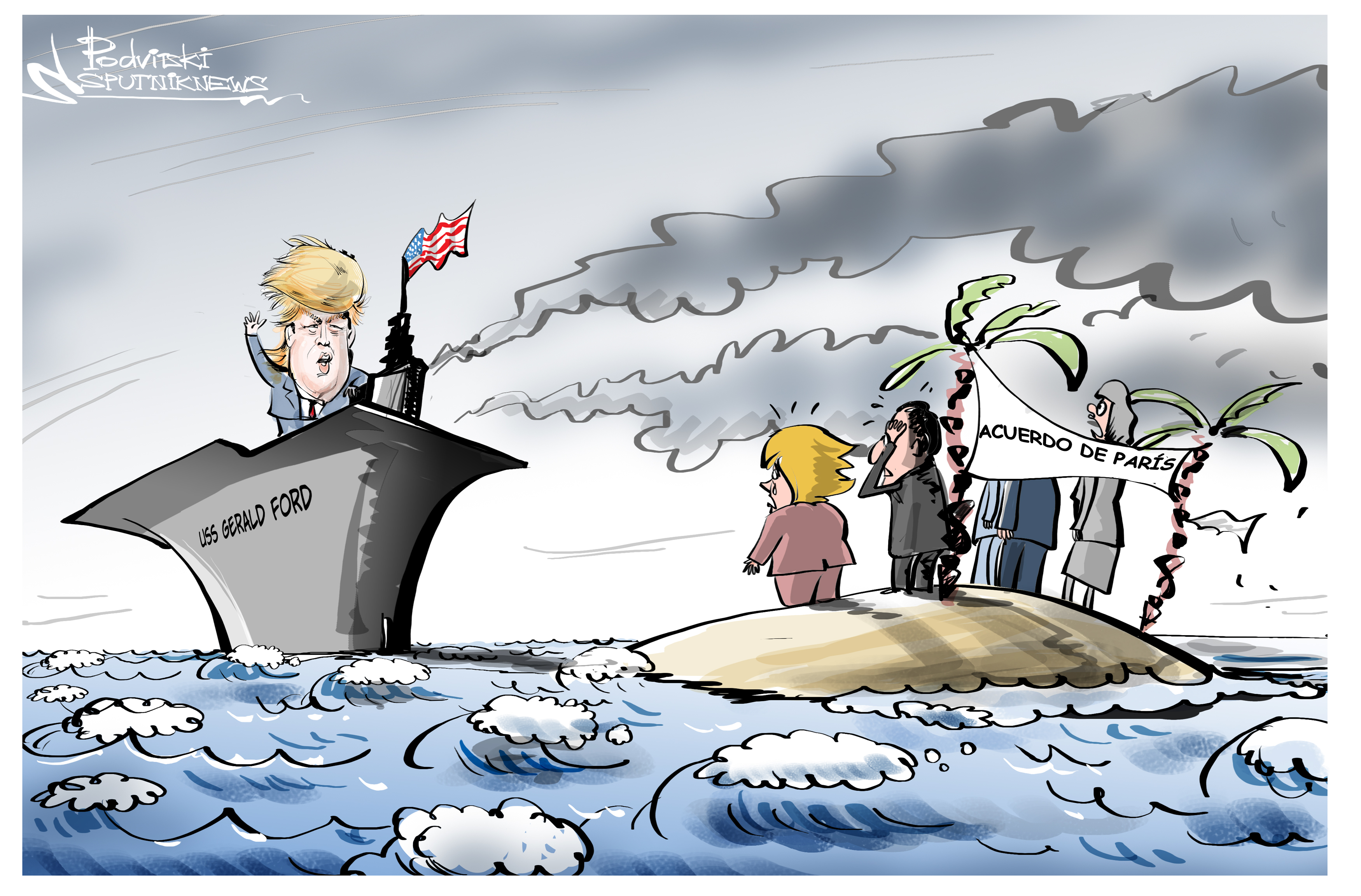 Trump hace una cochinada a la ecología mundial