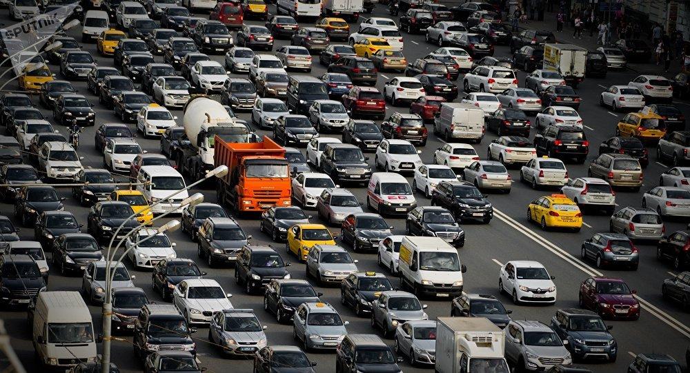 El tráfico en Moscú