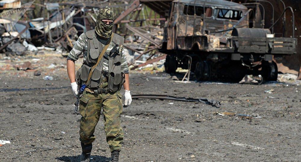 Miliciano de la RPL (República Popular de Lugansk)