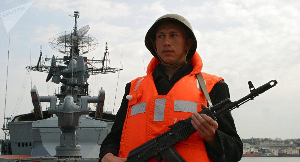 Военнослужащий большого противолодочного корабля Сметливый