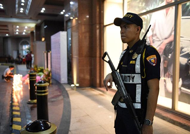 Un policía de Filipinas (archivo)