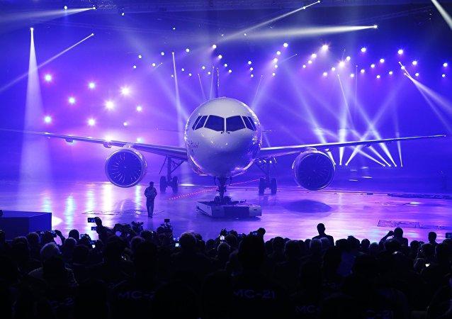 Presentación del nuevo avión de pasajeros ruso MC-21
