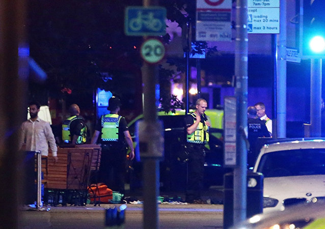Lugar del atentado en Londres