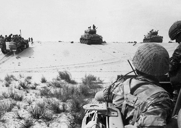 Soldados de Israel durante la Guerra de los Seis Días (archivo)