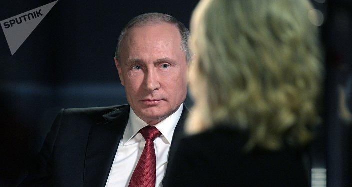 Vladímir Putin durante la entrevista a la cadena NBC