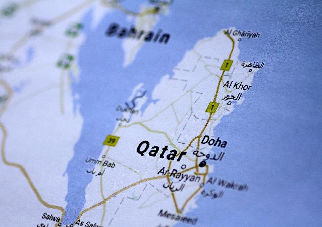 El mapa de Catar