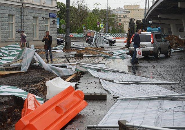 Las consecuencias del huracán de Moscú