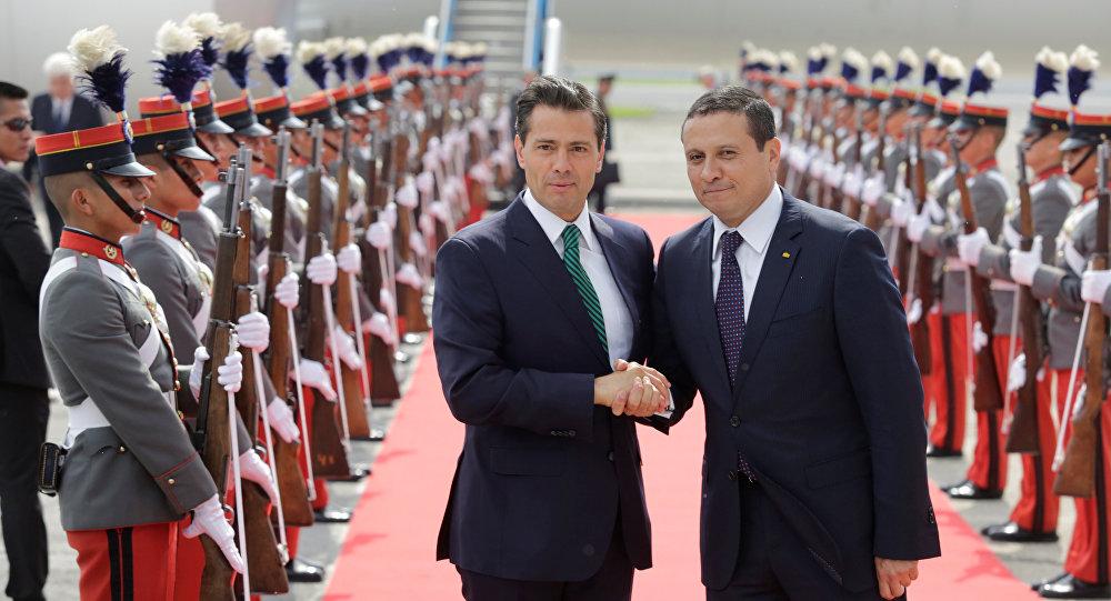 Presidente Mexicano Peña Nieto Llega A Guatemala De Visita Oficial